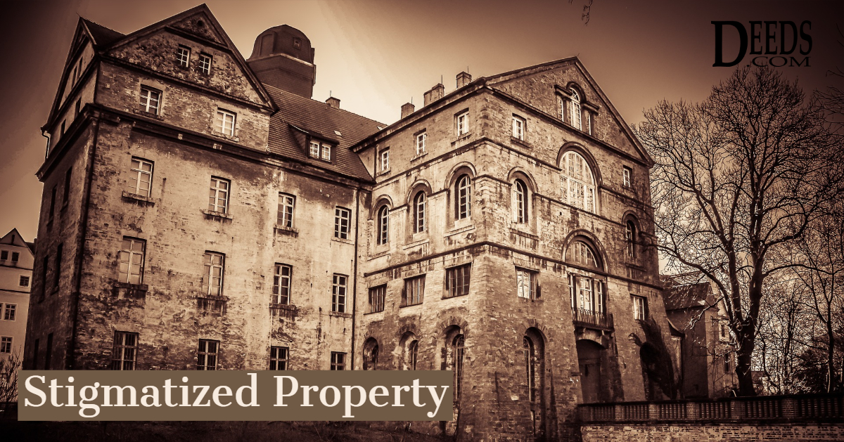 Information about stigmatized property from Deeds.com