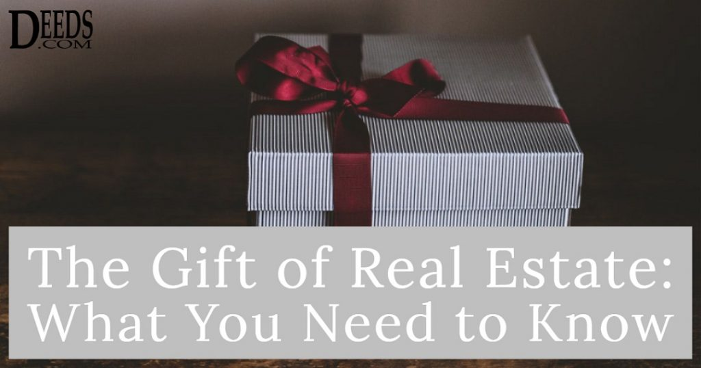Image of a gift box with a red bow. Captioned: The Gift of Real Estate, What You Need to Know.