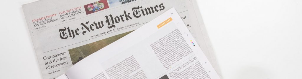 Image of newspapers on a table