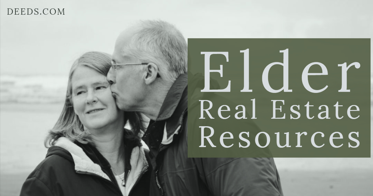 Image of a retired couple discussing elder real estate