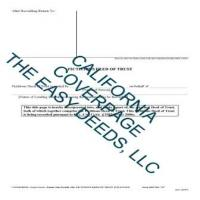 Cover Page for the Fictitious Deed of Trust Page 1 | Los Angeles County California