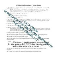 Los Angeles County Promissory Note Guide Page 1