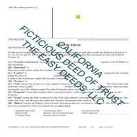 Los Angeles County Fictitious Deed of Trust Form  Page 1