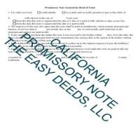 Tuolumne County Promissory Note Secured by a Promissory Note Page 1