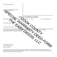 Cook County Special Warranty Deed Form Page 1