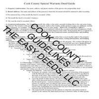 Cook County Special Warranty Deed Guide Page 1