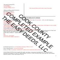 Cook County Completed Example of the Special Warranty Deed Document Page 1