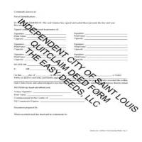 Quit Claim Deed Form Page 2 | Saint Louis City Missouri