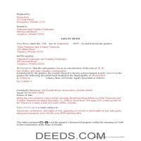 Collier County Completed Example of the Grant Deed Document Page 1