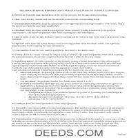 Cherokee County Personal Representative Deed of Sale Guide Page 1