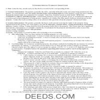 Smith County Special Warranty Deed Guide Page 1