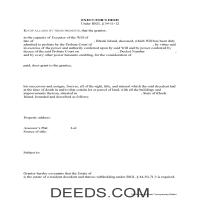 Kent County Executor Deed Form Page 1
