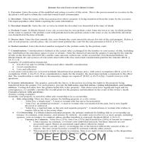 Kent County Executor Deed Guide Page 1