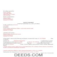 Pinal County Completed Example of the Quit Claim Deed Condominium Document Page 1