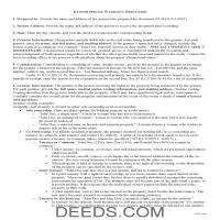 Gallatin County Special Warranty Deed Guide Page 1