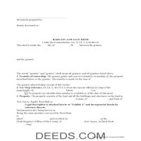 Middlesex County Bargain and Sale Deed Form Page 1