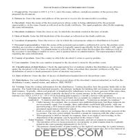 Bon Homme County Personal Representative Deed of Distribution Guide Page 1