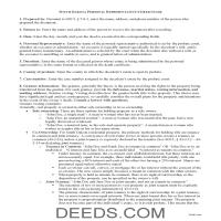 Deuel County Personal Representative Deed of Sale Guide Page 1