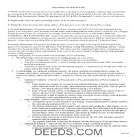 Stephens County Gift Deed Guide Page 1