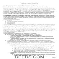 Noble County Warranty Deed Guide Page 1