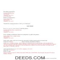 Yavapai County Completed Example of the Gift Deed Document Page 1