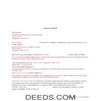 Miami County Completed Example of the Grant Deed Document Page 1
