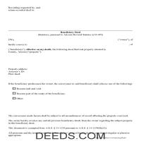 Yavapai County Beneficiary Deed Form Page 1