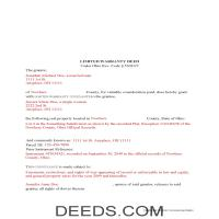 Miami County Completed Example of the Limited Warranty Deed Document Page 1