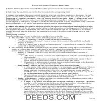 Caldwell County Warranty Deed Guide Page 1