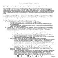 Spencer County Special Warranty Deed Guide Page 1