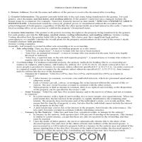 Hendricks County Grant Deed Guide Page 1