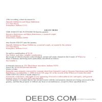 Hendricks County Completed Example of the Grant Deed Document Page 1