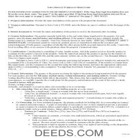 Worth County Special Warranty Deed Guide Page 1