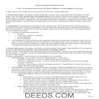 Harford County Quit Claim Deed Guide Page 1