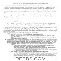Baltimore City Quit Claim Deed Guide Page 1