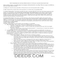 New York County Bargain and Sale Deed Without Covenants Guide Page 1