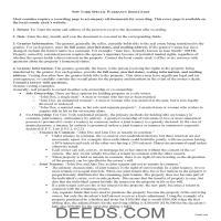 Warren County Special Warranty Deed Guide Page 1