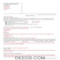 San Francisco County Completed Example of the Grant Deed Document Page 1