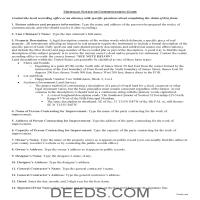 Otsego County Notice of Commencement Guide Page 1