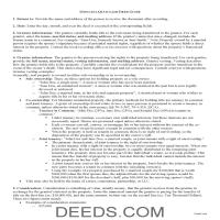 Hill County Quit Claim Deed Guide Page 1