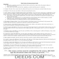 Miami County Notice of Commencement Guide Page 1