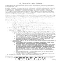 Mingo County Special Warranty Deed Guide Page 1