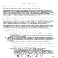 Huerfano County Warranty Deed Guide Page 1