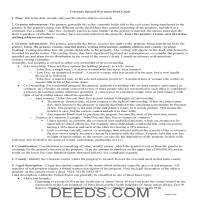 Archuleta County Special Warranty Deed Guide Page 1