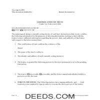 Scott County Certificate of Trust Form Page 1