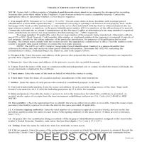 Buckingham County Certificate of Trust Guide Page 1