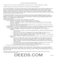 Sanders County Warranty Deed Guide Page 1