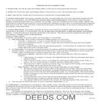 Dundy County Quit Claim Deed Guide Page 1
