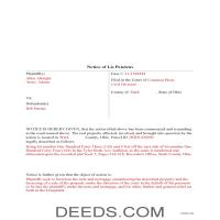Miami County Completed Example of the Lis Pendens Document Page 1
