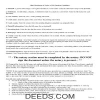 Miami County Lis Pendens Discharge Guide Page 1